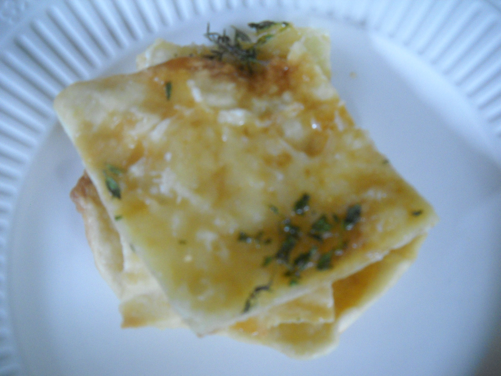 Honey, cheese and thyme flatbreads with flaky sea salt